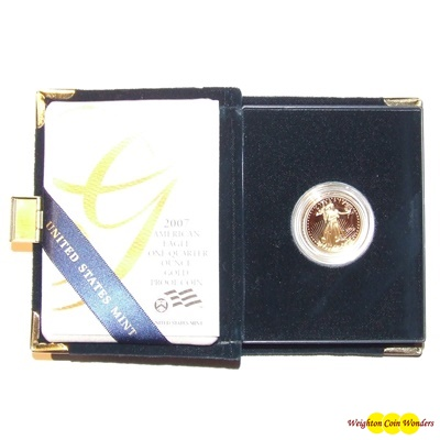 2007 Gold Proof 1/4oz EAGLE